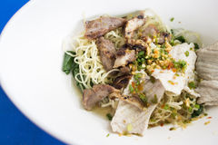 Asian pork noodles Royalty Free Stock Photography