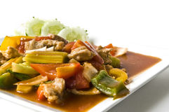 Asian pork in sour sweet sauce Royalty Free Stock Image