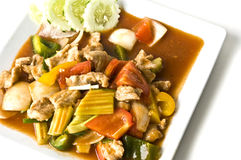 Asian pork in sour sweet sauce Royalty Free Stock Images