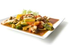 Asian pork in sour sweet sauce Stock Photos