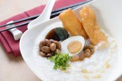Asian porridge breakfast royalty free stock photo