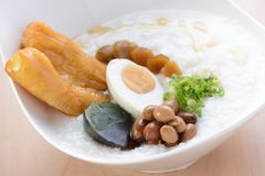 Asian porridge breakfast royalty free stock image