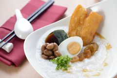 Asian porridge breakfast royalty free stock image