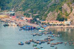 Asian port at Halong Bay Royalty Free Stock Photo