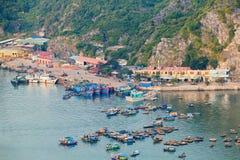 Asian port at Halong Bay Royalty Free Stock Photo