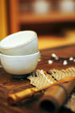 Asian pottery cups Royalty Free Stock Photos