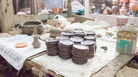 Asian pottery studio. Royalty Free Stock Photography