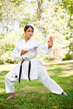 Asian practicing karate Royalty Free Stock Photos