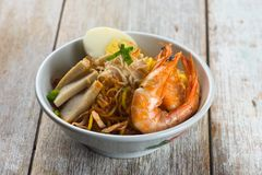 Asian prawn noodle stock photos