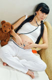 Asian pregnancy Royalty Free Stock Photo