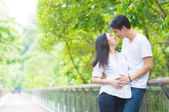 Asian pregnant couples. Stock Photos