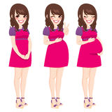 Asian Pregnant Woman Royalty Free Stock Images