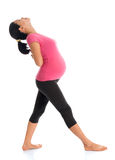 Asian pregnant woman doing exercise Royalty Free Stock Photos