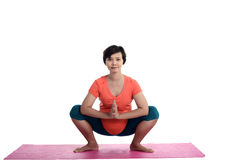 Asian Pregnant Woman Doing Yoga Royalty Free Stock Images
