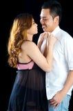 Asian pregnant woman and husband Royalty Free Stock Photo