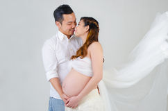 Asian pregnant woman and husband Stock Photography