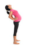Asian pregnant woman stretching Stock Photography