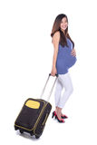 Asian pregnant woman traveling Stock Photo