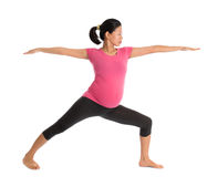 Asian pregnant yoga class. Royalty Free Stock Photos