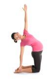 Asian pregnant yoga position. Royalty Free Stock Photo