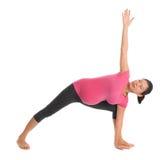 Asian pregnant yoga stretching. royalty free stock photos