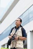 Asian press photographer Royalty Free Stock Photo