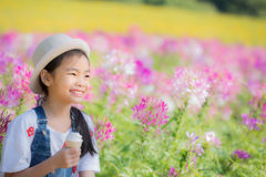 Asian pretty little girl Stock Photo