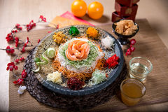 Asian Prosperity Toss, Lohei, Yusheng, yee sang stock photography