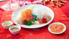 Asian Prosperity Toss, Lohei, Yusheng, yee sang Royalty Free Stock Image
