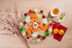 Asian Prosperity Toss, Lohei, Yusheng, yee sang Royalty Free Stock Photography