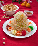 Asian Prosperity Toss, Lohei, Yusheng, yee sang Stock Photos