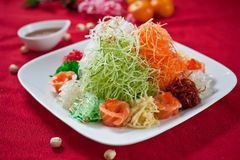 Asian Prosperity Toss, Lohei, Yusheng, yee sang Stock Photo