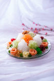 Asian Prosperity Toss, Lohei, Yusheng, yee sang Royalty Free Stock Images