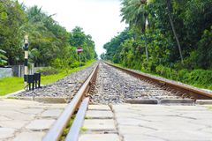 Asian Railway track royalty free stock photos