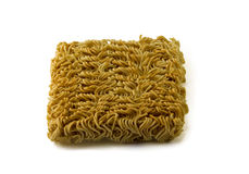 Asian ramen block of Instant  isolated on white background. Stock Image