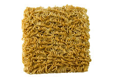 Asian ramen block of Instant  isolated on white background. Stock Photography