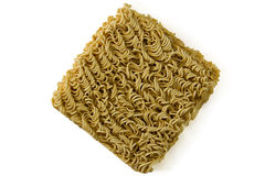 Asian ramen block of Instant  isolated on white background. Stock Photo