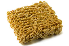 Asian ramen block of Instant  isolated on white background. Royalty Free Stock Photo