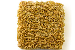 Asian ramen block of Instant  isolated on white background. Royalty Free Stock Image