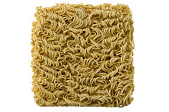 Asian ramen block of Instant  isolated on white background. Royalty Free Stock Images