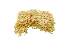 Asian ramen instant noodles isolated on white backgrou Royalty Free Stock Image
