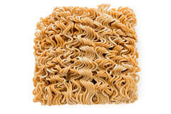 Asian ramen instant noodles isolated Royalty Free Stock Images
