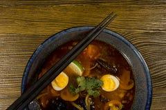 Asian ramen soup Stock Photos