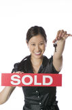 Asian real estate agent Royalty Free Stock Image