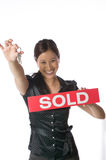 Asian real estate agent home buyer Royalty Free Stock Photo