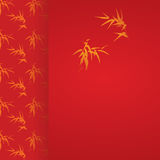 Asian red bamboo vertical banner Royalty Free Stock Photography
