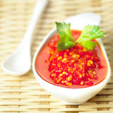 Asian red chili sauce Stock Photo