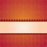 Asian red paisley background with banner for text Stock Photography