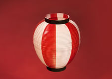 Asian Red Paper Lantern on red background Royalty Free Stock Photography