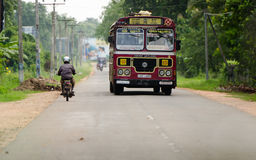 Asian regular public bus in Sri Lanka Stock Photos